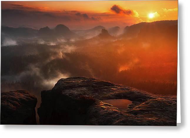 Mountain Fog  Greeting Card by Artem Sapegin