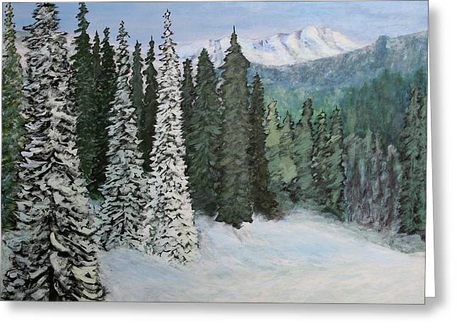 Mountain Foothills Greeting Card by Jim Justinick