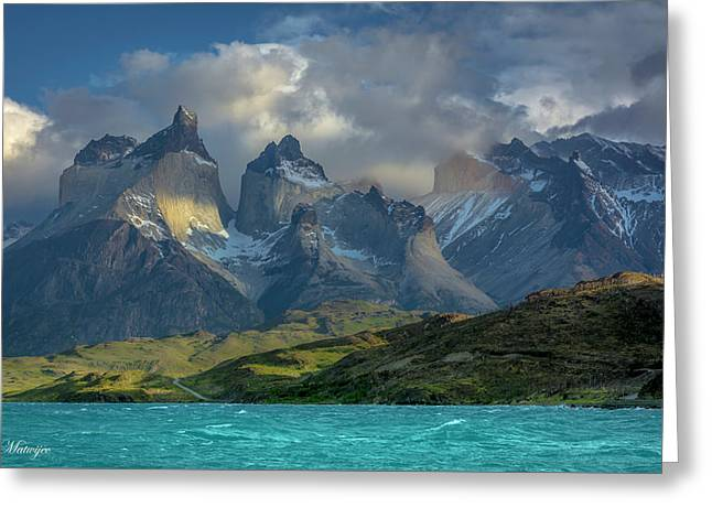 Mountain Glimmer Greeting Card by Andrew Matwijec