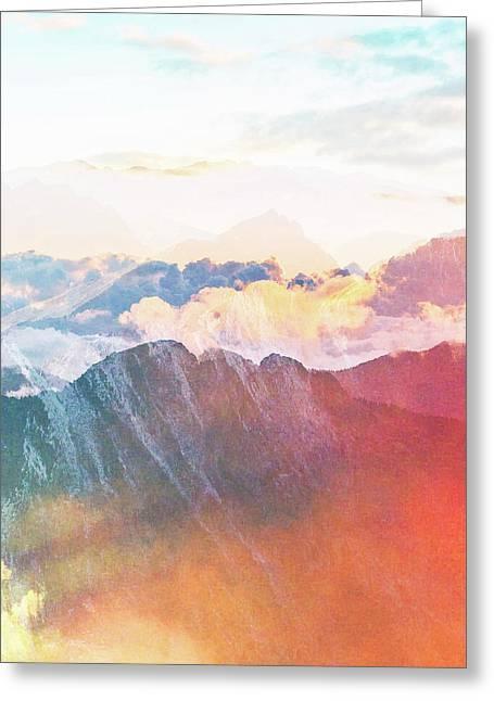 Mountain Glory Greeting Card by Uma Gokhale