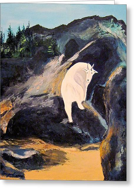 Mountain Goat Greeting Card by Richard Beauregard