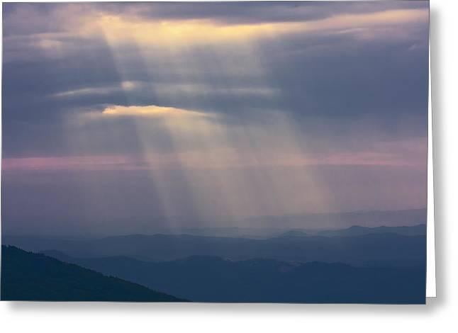 Mountain God Rays Greeting Card
