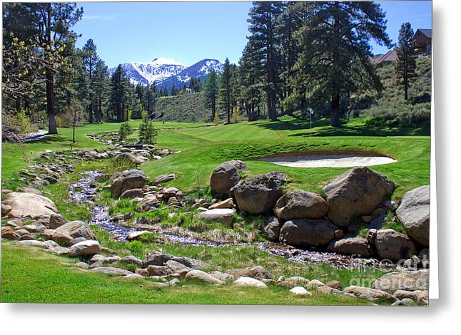 Mountain Golf Course Greeting Card