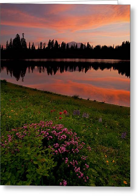 Mountain Heather Reflections Greeting Card