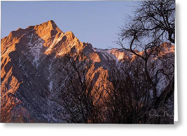 Mountain High Greeting Card by Peter McCracken