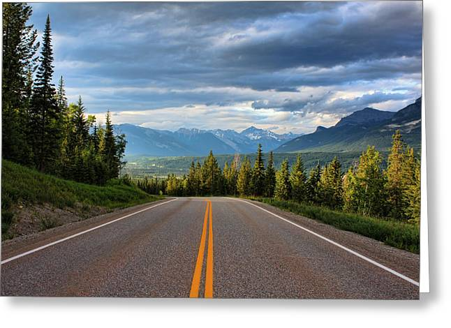 Mountain Highway Greeting Card by Matt Dobson
