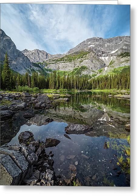 Mountain Lake Alberta Canada Greeting Card