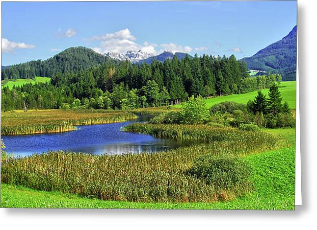 Busybee Greeting Cards - Mountain Lake Austria Greeting Card by Sabine Jacobs