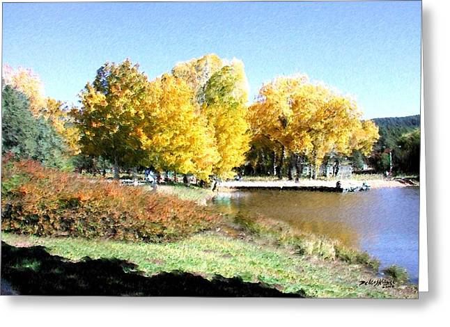 Mountain Lake Autumn Greeting Card