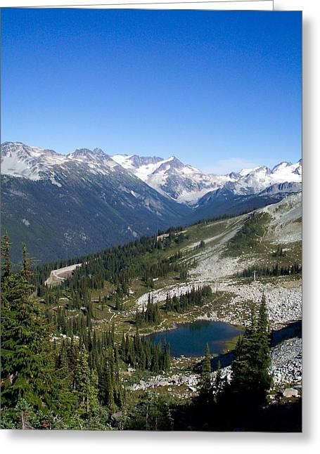 Mountain Lake Greeting Card by James Johnstone