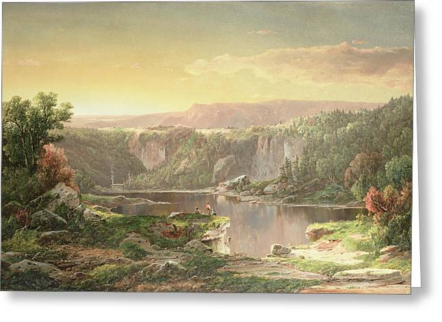 Mountain Lake Near Piedmont Greeting Card by William Sonntag