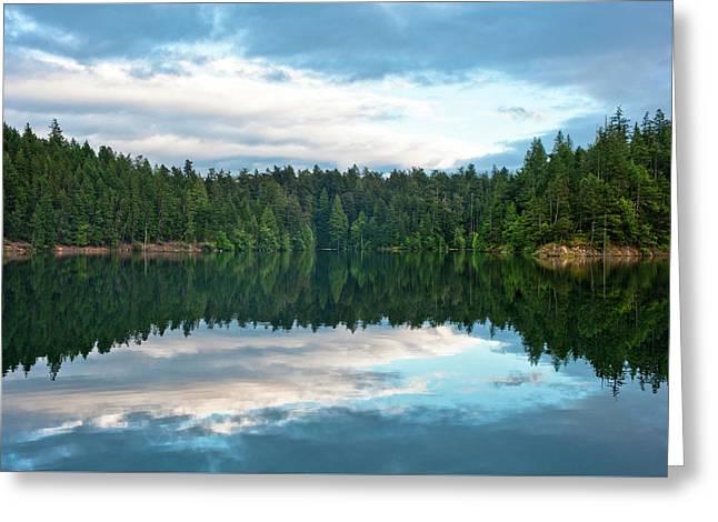 Mountain Lake Reflection Greeting Card