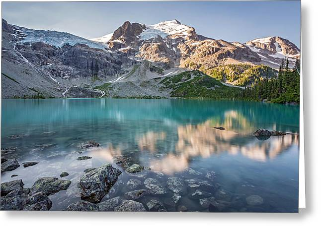 Mountain Lake Reflection Greeting Card by Pierre Leclerc Photography