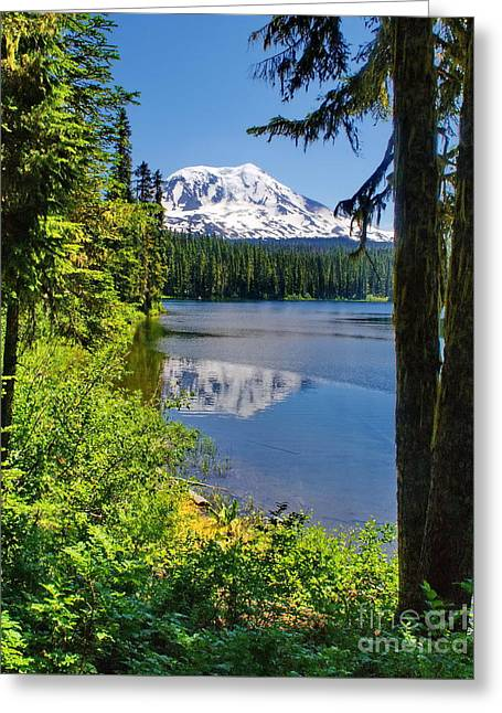 Mountain Lake Reflections Greeting Card