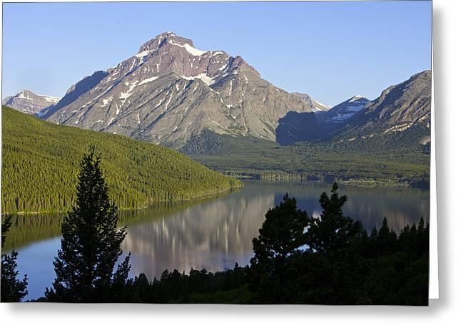 Mountain Lake Greeting Card by Richard Steinberger