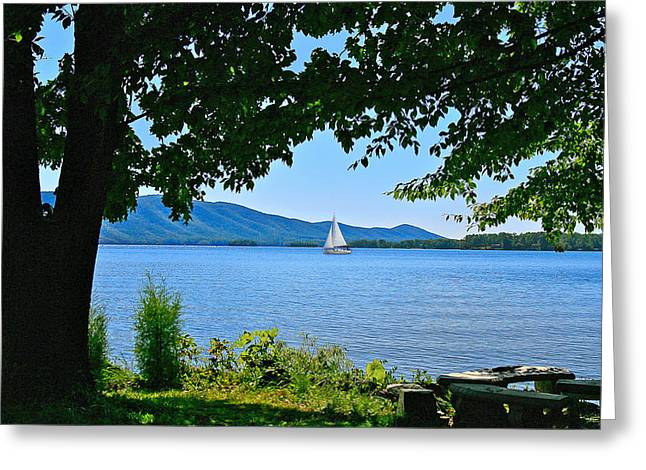 Smith Mountain Lake Sailor Greeting Card