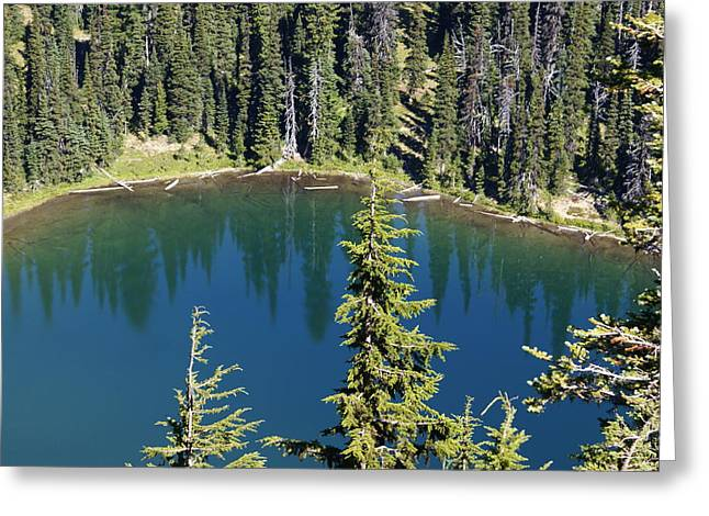 Mountain Lake Greeting Card by Sonja Anderson
