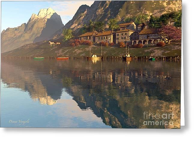 Mountain Lake Village Greeting Card