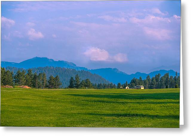 Mountain View In Black Hills  Greeting Card