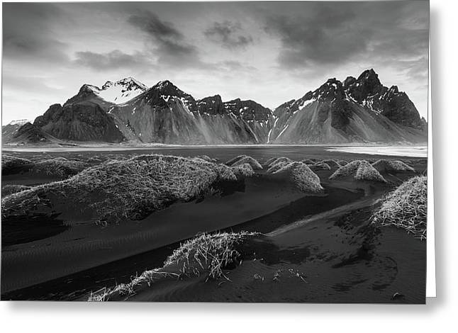 Greeting Card featuring the photograph Icelandic Mountain  Landscape by Michalakis Ppalis