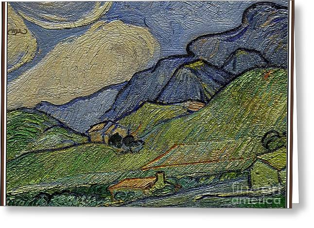 Mountain Landscape Greeting Card by Pemaro