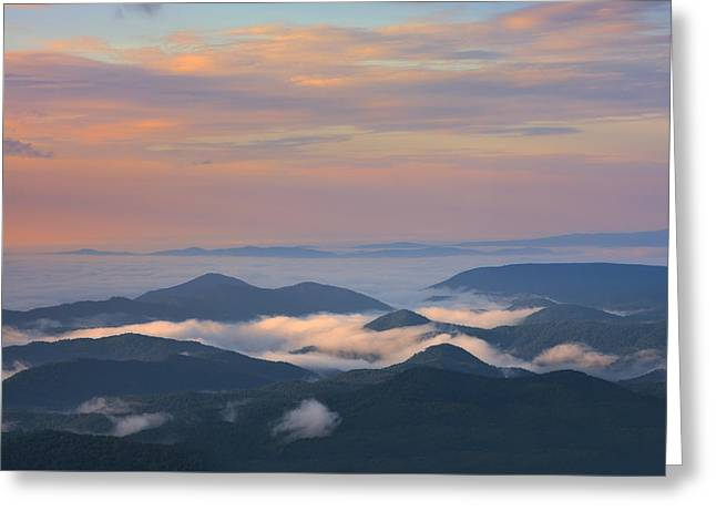 Greeting Card featuring the photograph Mountain Layer Sunrise by Ken Barrett