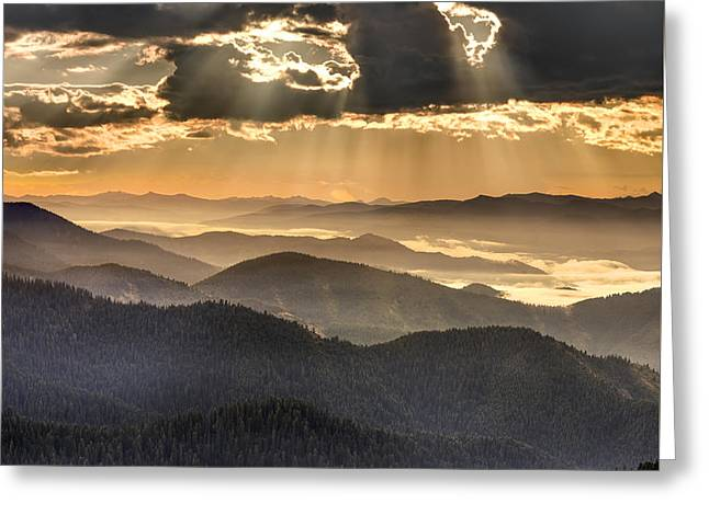 Mountain Layers Greeting Card by Leland D Howard