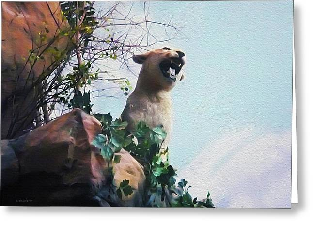 Mountain Lion - Paint Effect Greeting Card
