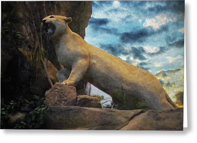 Mountain Lion - Paint Fx Greeting Card