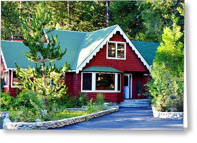 Greeting Card featuring the photograph Mountain Lodging by Glenn McCarthy Art and Photography