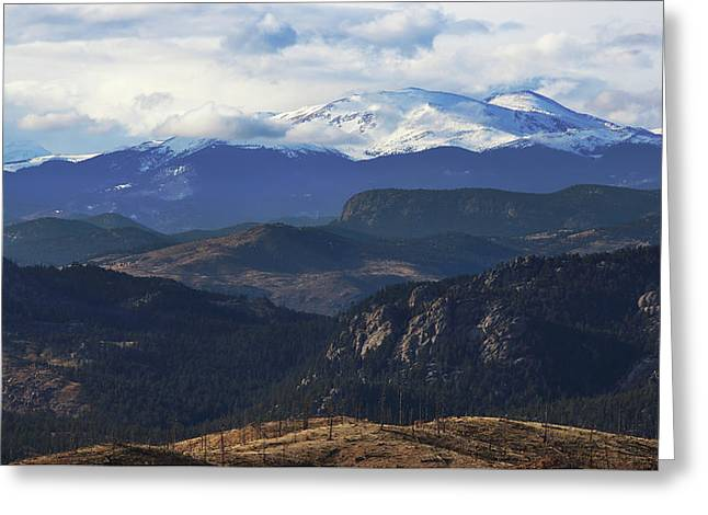 Mountain Majesty Greeting Card by Brian Gustafson