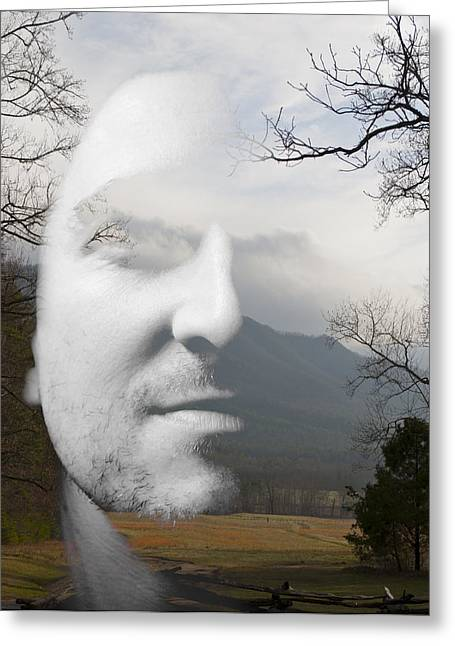 Mountain Man Greeting Card by Christopher Gaston