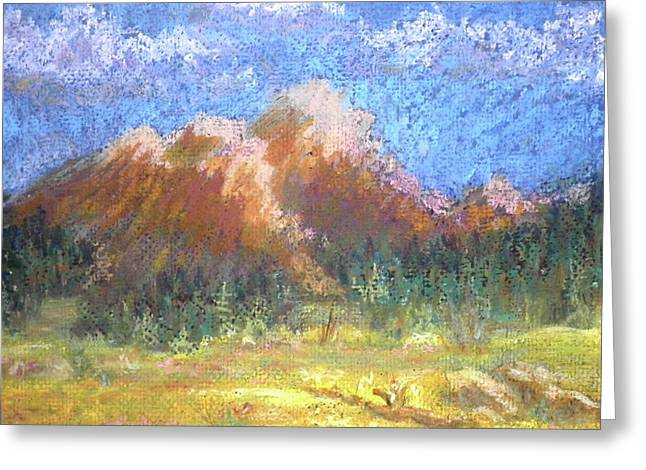 Mountain Meadow 2 Greeting Card by Curt Peifley