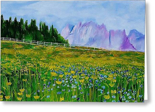 Mountain Meadow Wildflowers Greeting Card