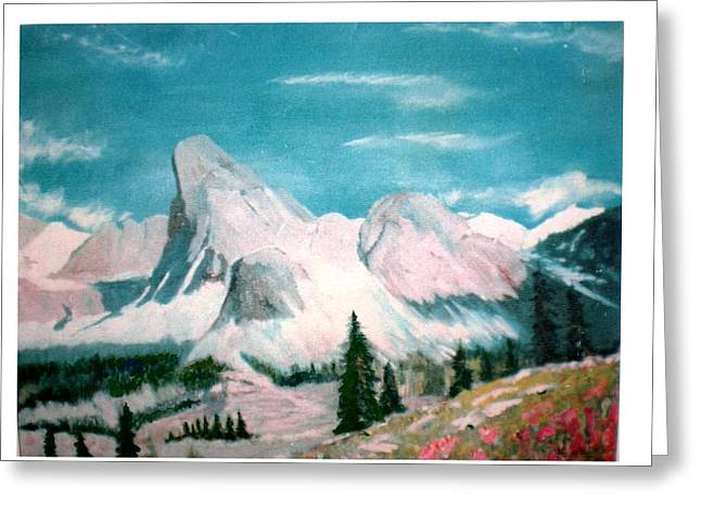 Mountain Meadows Greeting Card by Hal Newhouser