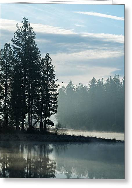 Mountain Meadows Reservoir At Dawn Greeting Card by The Couso Collection