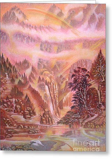 Mountain Mist Greeting Card