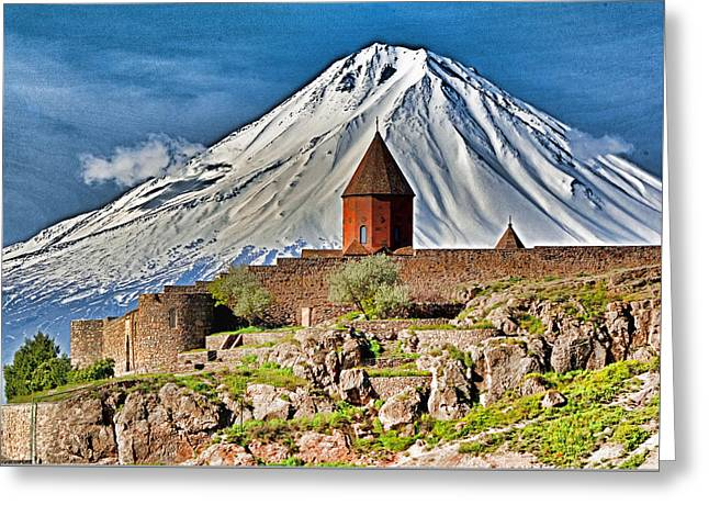 Mountain Monastery Greeting Card by Dennis Cox WorldViews