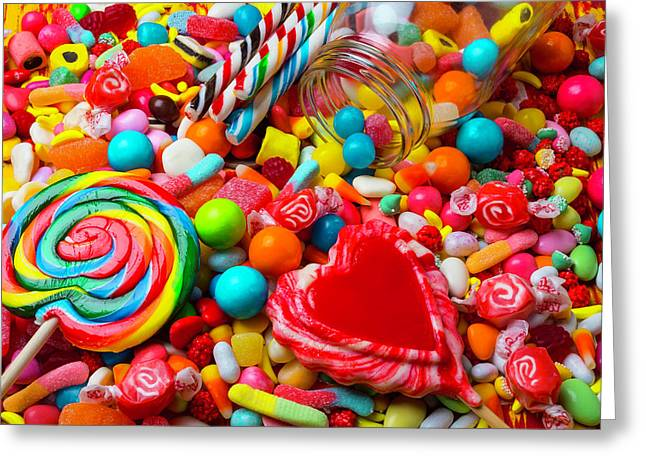 Mountain Of Candy Greeting Card by Garry Gay