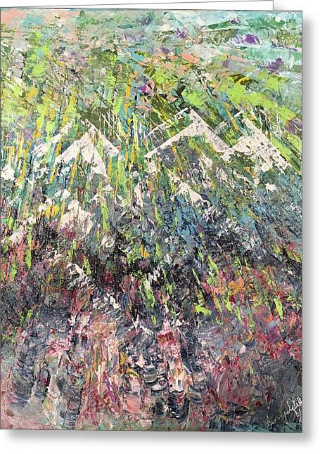 Mountain Of Many Colors Greeting Card