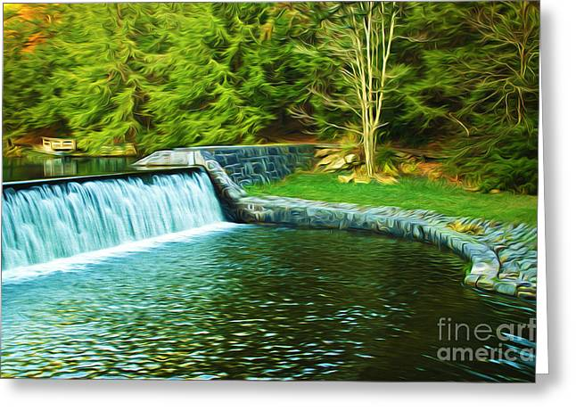 Mountain Park In Autumn Greeting Card