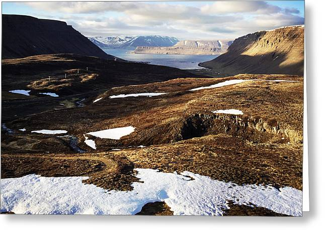 Mountain Pass In Iceland Greeting Card