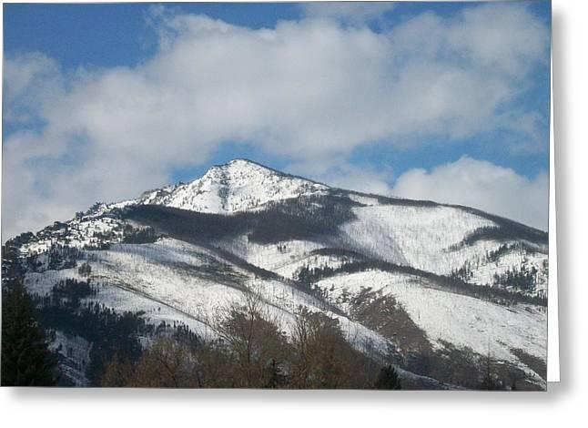 Mountain Peak Greeting Card by Jewel Hengen