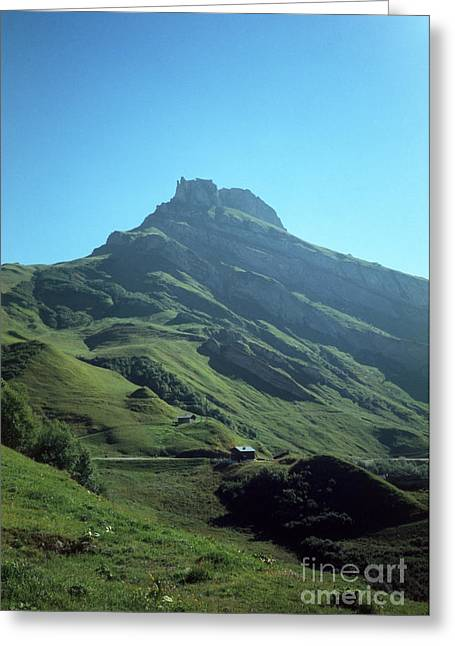 Mountain Peak With Farms Greeting Card by Fabrizio Ruggeri