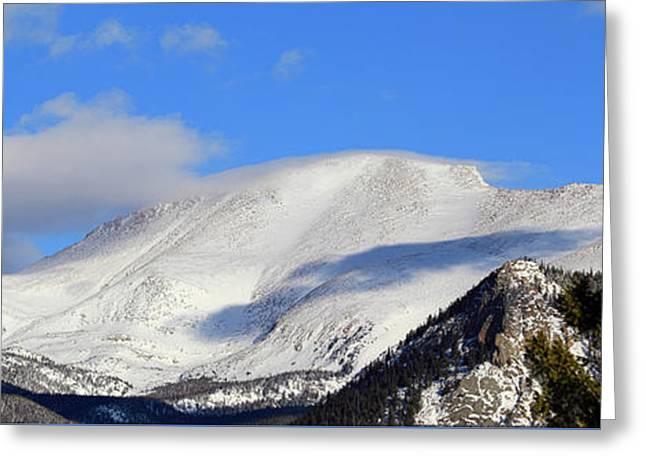 Mountain Peaks - Panorama Greeting Card