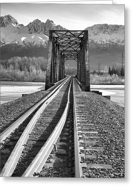 Mountain Rail Greeting Card by Ed Boudreau