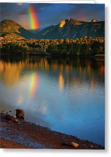 Mountain Rainbows Greeting Card