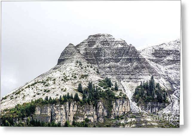 Mountain Range Snow Covered Greeting Card by Bernard Jaubert