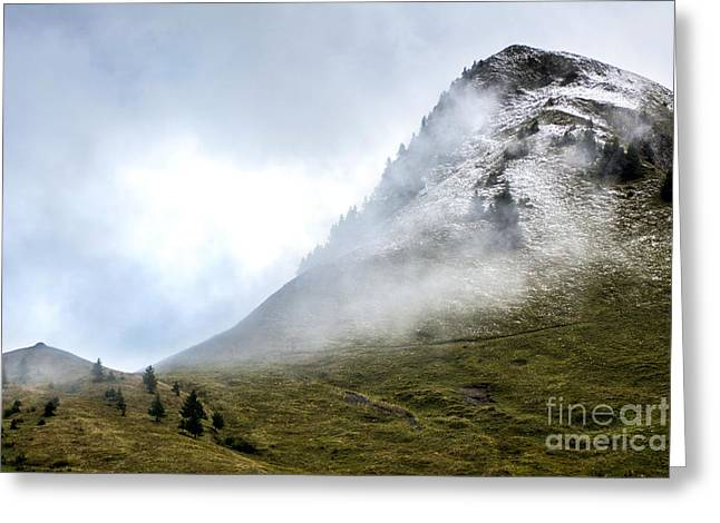 Mountain Range Snow Covered Greeting Card