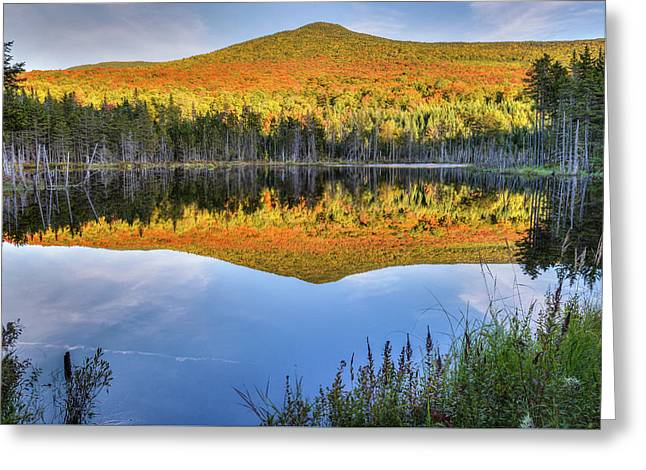 Mountain Reflections Greeting Card by Bill Wakeley